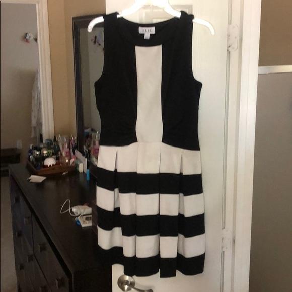 Elle Dresses & Skirts - Black and white dress
